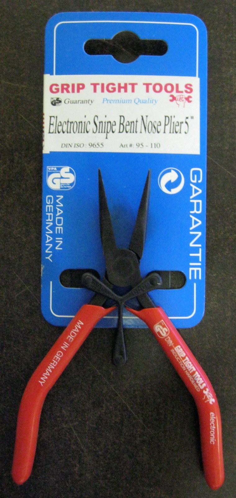 "New Grip Tight Tools 5"" Electronic Snipe Bent Nose Mini Plier #95-110"