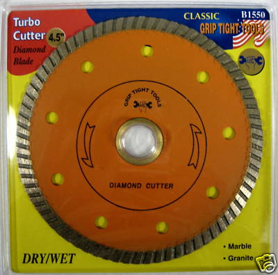 "New Grip 4.5"" Classic Turbo Cutter Diamond Blade #B1550"