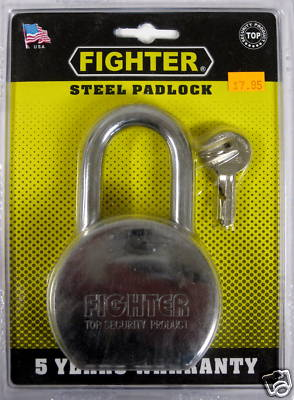 "New Fighter 3-1/8"" Steel Padlock #8268-SS"